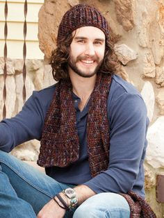 Cute crochet hat and scarf set for that special man in your life.
