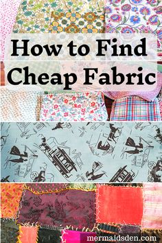 In this post, I'll share all of my secrets for finding cheap fabric that won't break your budget. I like to make frugal choices when it comes to fabric, and I'll help you do so, too. #easysewing #sewing #cheapcrafts