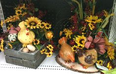 Country Hen Floral Centerpieces designed by Leisa, A.C. Moore Clarksburg, WV