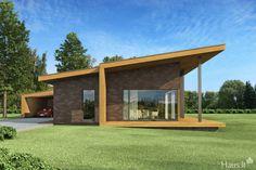 LONG - Namų projektai House Roof Design, Small House Design, Facade House, Modern House Design, Best House Plans, Modern House Plans, Pavilion Architecture, Modern Architecture, Zen House