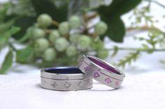 結婚指輪|チタンアート・飛翔。 詳しくは、2015年6月2日の館林工房のスタッフブログ「結婚指輪☆飛翔」でご紹介。