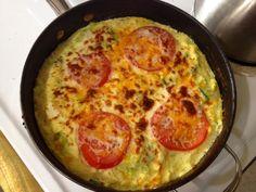 Squash Zucchini Leek Tomato Frittata --an original recipe by Krista Wilde