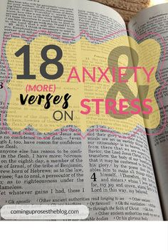 First I gave you 19 Bible Verses on Anxiety and Stress, and that wasn't enough! Here are 18 more  verses to help you de-stress and unwind with Christ.