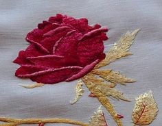 embroidery - love the shading and relief