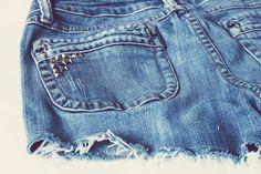My Ride-Or-DIY: DIY Studded Cutoff Jean Shorts