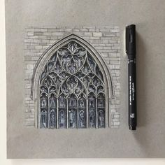 "3,917 Likes, 34 Comments - Phoebe Atkey (@phoebeatkey) on Instagram: ""⛪️ #art #drawing #pen #sketch #illustration #linedrawing #architecture #church #churchwindow…"""