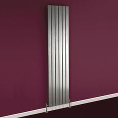 This super shiny silver radiator is great against purple decor.