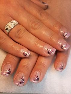 French manicure with design. Just one nail though