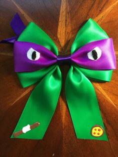 Teenage mutant ninja turtles, Heroes in a half shell, turtle power!  I had a student Request Michelangelo, but I couldn't very well do him only.   Here's Donatello!  #teenagemutantninjaturtles #donatello #pizza #pizzahut #bowstaff #herosinahalfshell #turtlepower #hairbow #hairbows #handmade #crafty #missmaegansbowtique #missmaeganbowtique #missmbowtique