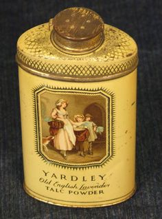 VINTAGE YARDLEYS OLD ENGLISH LAVENDER TALC TALCUM POWDER CHEMISTS TIN