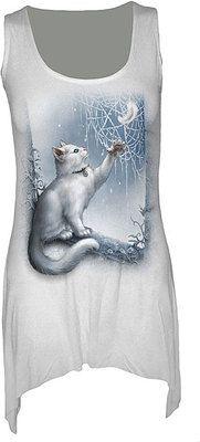 Spiral Direct Snow Kitten Spider Web Viscose White Vest Dress koko M 22,23€