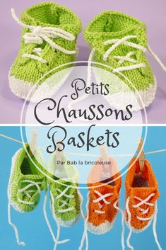 Crochet basket 722053752744719696 - Petits Chaussons Baskets – Bab la bricoleuse Source by Crochet Poncho, Crochet Baby, Tricot Baby, Simple Sandals, Knitted Booties, Thing 1, Couture Sewing, Earring Tutorial, Butterfly Design