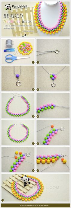 Beaded Necklace Ideas - How to Make a Beaded Jewelry Making Tutorial by wanting