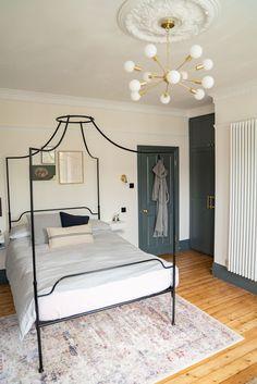 Renovation update: bedroom - The Frugality Bedroom Wardrobe, Home Bedroom, Master Bedroom, Bedroom Decor, Bedrooms, Bedroom Ideas, Victorian Terrace House, Victorian Homes, Parisian Bedroom