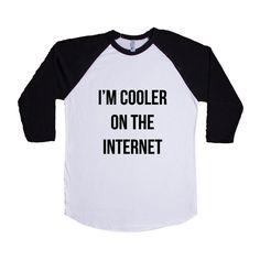 I'm Cooler On The Internet Internet Nerd Computers Nerds Signal Online Connection Programmer Programming SGAL8 Baseball Longsleeve Tee