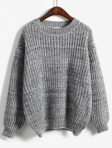 Round Neck Dolman Grey Sweater - Round Neck Dolman Grey Sweater Source by xkatilove - Grey Sweater, Long Sleeve Sweater, Long Sleeve Tops, Sweater Cardigan, Long Sweaters, Sweaters For Women, Fall Outfits, Cute Outfits, Pull Gris