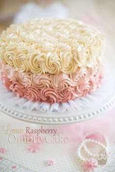 Lemon Raspberry Ombre Cake | eviltwin.kitchen