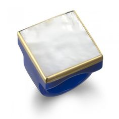 Isharya - Blue Resin Mother of Pearl Ring