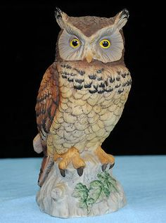 Details About Lefton Great Horned Screech Owl Vintage