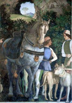 Andrea Mantegna - Arrival of Cardinal Francesco Gonzaga, Ducal Palace in Mantua, Italy