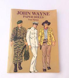 John Wayne Paper dolls by Tom Tierney by VintageCharacter on Etsy
