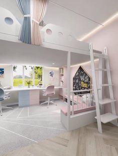 Small Room Design Bedroom, Kids Bedroom Designs, Bedroom Furniture Design, Kids Room Design, Room Ideas Bedroom, Home Room Design, Bedroom Decor, Bedroom Ideas For Small Rooms, Bed For Girls Room