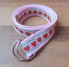 Strawberry D Ring Belt