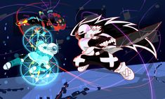 :ART TRADE: QuantumVerse- TKLag, TKSans VS CROSS by perfectshadow06.deviantart.com on @DeviantArt