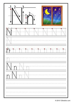 FREE Tracing Worksheet for Kids. Education Craft and Worksheet for Preschool,Toddler and Kindergarten. Learn to write the alphabet with 123 Kids Fun. Alphabet Writing Practice, Printable Alphabet Worksheets, Alphabet Tracing, Alphabet For Kids, Tracing Worksheets, Alphabet Book, Preschool Worksheets, Free Printable, Writing Prompts For Kids