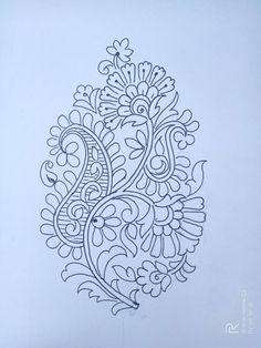Peacock Embroidery Designs, Hand Embroidery Design Patterns, Embroidery Transfers, Hand Embroidery Stitches, Sashiko Embroidery, Sun And Moon Drawings, Fabric Painting, India Painting, Mehndi Designs Book