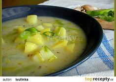 Pórková polévka s česnekem recept - TopRecepty.cz