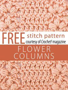 Stitch Patterns Flower Columns