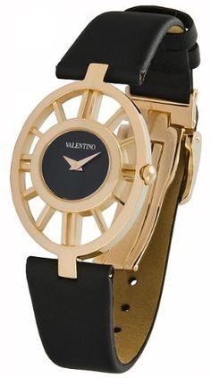 Valentino Vanity Rose Gold Plated Stainless Steel Womens Fashion Strap Watch