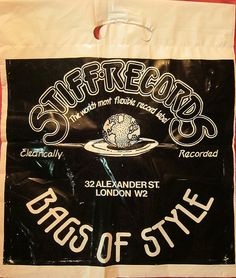 Back in the day when every high street had a record shop and people went out to buy vinyl. Check out these images of record shop bags from times gone by. Buy Vinyl, Vinyl Store, Ego Tripping, Photography Words, Record Players, Music Images, Rock Posters, Vintage Records, World Records