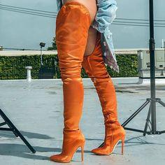 Would you wear? https://www.myshoebazar.com/shoes/thigh-high-satin-stiletto-boots/