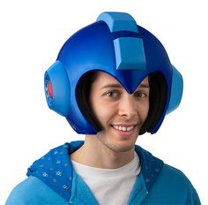 Mega Man Helmet Replica Collector's Edition comes with LED lights and two layers of padding so it fits lots of noggins.