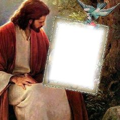 Create your own photo montage JESUS on Pixiz. Happy Birthday Cake Photo, Birthday Photo Frame, Birthday Frames, Photo Background Images, Photo Backgrounds, La Salette, Mom In Heaven, Birthday In Heaven, Jesus Photo