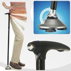 Bastón de Aluminio con luz LED #ortopedia #bastón #bastoningles #anciano #esguince #movilidad #ayudastécnicas #muletas #ortopedia #lesiones #salud #ortopediaparati