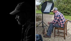 How to Fake a Black Backdrop With a Flash  By ROY FURCHGOTT  If you admire those moody, sparsely lit portraits where the subject's face is surrounded by darkness, you may despair that you will never get that shot without a studio and black backdrop.    It turns out you don't need either. You can fake a black backdrop even on a sunny day outdoors with just a camera and separate flash.