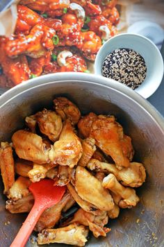 Juli Bauer's Sticky Seseame Teriyaki Chicken Wings by Michelle Tam http://nomnompaleo.com