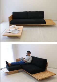 Diy Sofa, Diy Daybed, Diy Furniture Couch, Wooden Pallet Furniture, Wood Sofa, Pallet Sofa, Home Decor Furniture, Furniture Design, Sofa Design