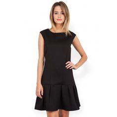 Closet Black V-Back Pep Hem Dress