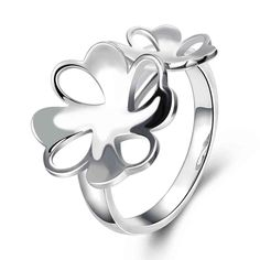 best friends silver ring Flower size anel de ouro bijouterie SMTR745