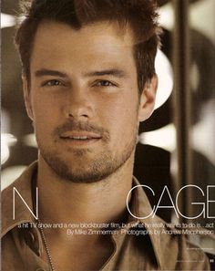 Josh Duhamel....can't wait for one of his new movies that he's in; coming out in Feb 2013..Safe Haven!:))