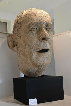 Sculpture Cardboard Portrait of David Rushbrook by James Lake; Found Objects, 2011
