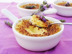 Crème Brûlée de lavanda. Un postre simplemente delicioso.