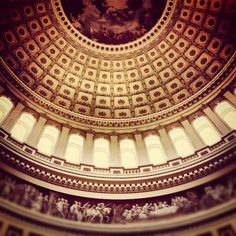 Washington DC - Capitol Building - the rotunda, and the first place I ever ate grits. Repinned from jetmoody on Instagram