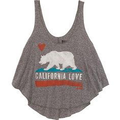 Billabong Women's Just Like Us Tank ($16) ❤ liked on Polyvore featuring tops, shirts, dark athletic grey, t-shirt/prints, grey shirt, grey tank top, grey tank, graphic shirts and billabong tank