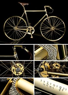 World's Most Expensive Crystal and 24K Gold Plated Bike