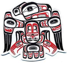 Eagle Patch  Nation: Nisga'a  Artist: Todd Stephens.  Native American Art